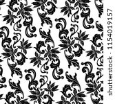 a baroque pattern of black... | Shutterstock . vector #1154019157