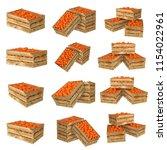 3d render of wooden box. full... | Shutterstock . vector #1154022961
