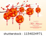 chinese mid autumn festival... | Shutterstock .eps vector #1154024971