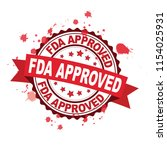 red rubber stamp with fda... | Shutterstock .eps vector #1154025931