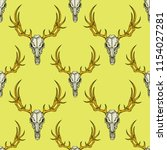 vector seamless pattern with... | Shutterstock .eps vector #1154027281