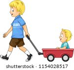 illustration of kids boys with... | Shutterstock .eps vector #1154028517