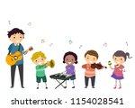 illustration of a music... | Shutterstock .eps vector #1154028541