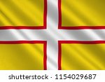 flag of dorset is a county in... | Shutterstock . vector #1154029687