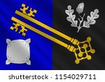 flag of surrey is a county in... | Shutterstock . vector #1154029711
