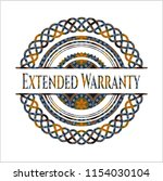 extended warranty arabic style... | Shutterstock .eps vector #1154030104