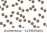 background with canine prints | Shutterstock .eps vector #1154031601