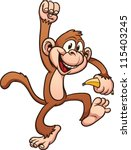cute cartoon monkey. vector...