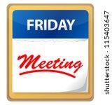 calendar meeting illustration... | Shutterstock . vector #115403647