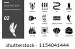 solid icon pack for food and... | Shutterstock .eps vector #1154041444
