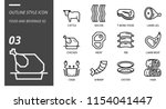 outline icon pack for food and... | Shutterstock .eps vector #1154041447