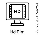 a screen with the film reel... | Shutterstock .eps vector #1154047861