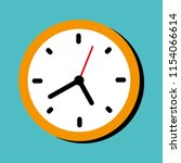 clock icon in flat style.... | Shutterstock .eps vector #1154066614