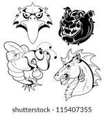 tattoo mascots | Shutterstock .eps vector #115407355