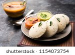 idly sambar or idli with... | Shutterstock . vector #1154073754