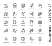human resource outline vector... | Shutterstock .eps vector #1154076427