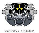 toxic mascot tattoo vector