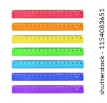 set of rulers is plastic for... | Shutterstock . vector #1154083651