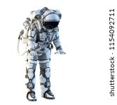 astronaut on white. mixed media | Shutterstock . vector #1154092711