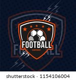 football champion logo  sport ... | Shutterstock .eps vector #1154106004