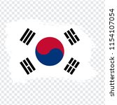 flag of south korea  brush...