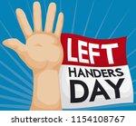 left hand wide open high up... | Shutterstock .eps vector #1154108767