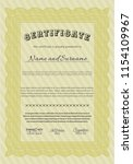 yellow awesome certificate... | Shutterstock .eps vector #1154109967