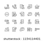 simple set of customs related... | Shutterstock .eps vector #1154114401