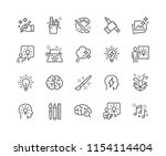 simple set of creativity... | Shutterstock .eps vector #1154114404