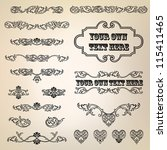 calligraphic retro elements and ... | Shutterstock .eps vector #115411465