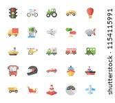 transportation icons set  | Shutterstock .eps vector #1154115991