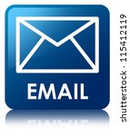 email glossy blue reflected... | Shutterstock . vector #115412119