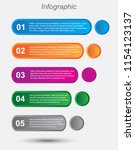 info graphic design template.... | Shutterstock .eps vector #1154123137