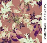 bell flower seamless pattern.... | Shutterstock . vector #1154126197