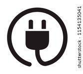 electric plug socket icon ... | Shutterstock .eps vector #1154135041