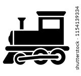vintage train engine with... | Shutterstock .eps vector #1154139334