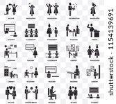 set of 25 transparent icons... | Shutterstock .eps vector #1154139691