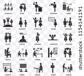 set of 25 transparent icons... | Shutterstock .eps vector #1154141191