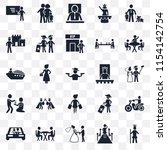 set of 25 transparent icons... | Shutterstock .eps vector #1154142754