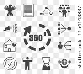 set of 13 transparent icons... | Shutterstock .eps vector #1154143837