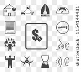 set of 13 transparent icons... | Shutterstock .eps vector #1154144431