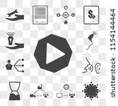 set of 13 transparent icons... | Shutterstock .eps vector #1154144464