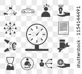 set of 13 transparent icons... | Shutterstock .eps vector #1154144491