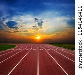 athlete track or running track... | Shutterstock . vector #1154146411