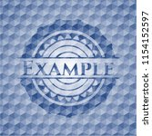 example blue polygonal badge. | Shutterstock .eps vector #1154152597