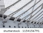 conic roof construction. frame... | Shutterstock . vector #1154156791