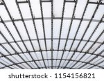 conic roof construction. frame... | Shutterstock . vector #1154156821