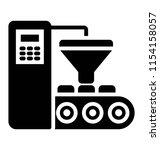 conveyor belt with package ... | Shutterstock .eps vector #1154158057