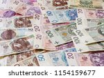 polish zloty of different... | Shutterstock . vector #1154159677