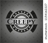 creepy dark icon or emblem | Shutterstock .eps vector #1154162227